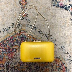 Rebecca Minkoff yellow leather cross body bag